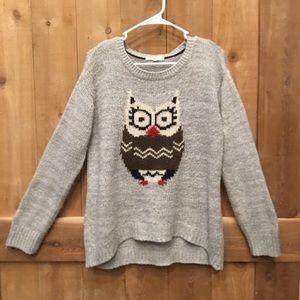 Rewind Owl Sweater Size Large EUC
